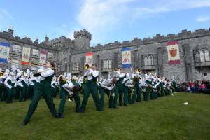 The band performing the No. 5 at Kilkenny Castle in Ireland