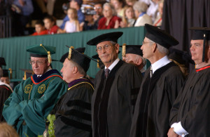 Graduate Commencement honoring Tom Gleason and Robert Everitt (Honorary Degree recipients) in Moby Arena May 13, 2005