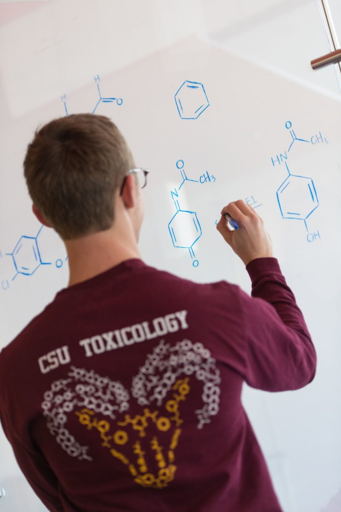 Tim Hoffman, PhD student, explores chemical formulas. January 26, 2016