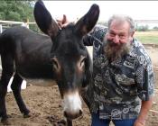 Bernie Rollin donkey goofing off