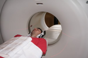 The PET/CT scanner can track muscular and neurological activity after patients walk on a treadmill.