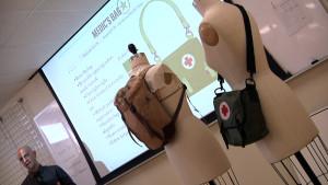 Student Brian King describes a medic bag design.