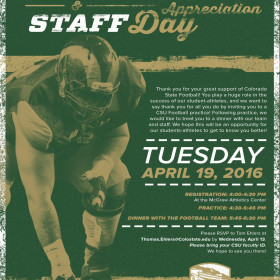 April 19 is Faculty/Staff Appreciation Day for Ram Football