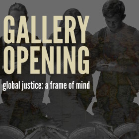 Students and community build a gallery around global justice