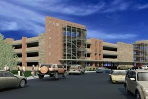 parking garage rendering