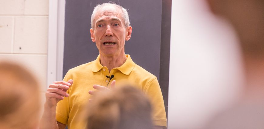 Colorado State University associate dean and Environmental and Radiological Sciences professor Ken Blehm teaches ERHS 410 Environmental Health and Waste Management, April 12, 2016.