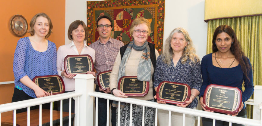 Inaugural class of the Faculty Institute holding their awards
