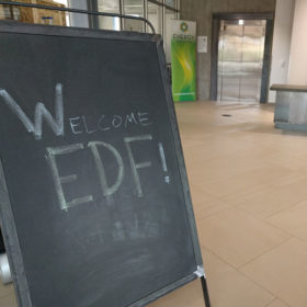 EDF board visits CSU, tours Powerhouse Energy Campus