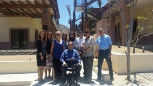 Donna Baily (back row, fourth from left) with colleagues at the CSU Todos Santos Center in May 2015.