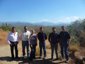 Irlbeck with local farmers in Todos Santos.