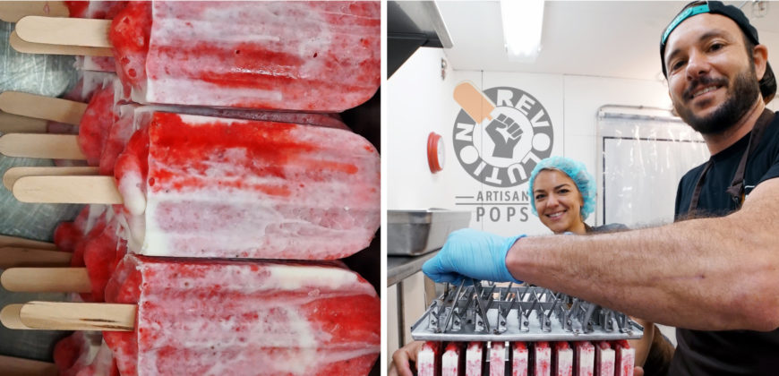 Revolution artisan pops owners and popsicles