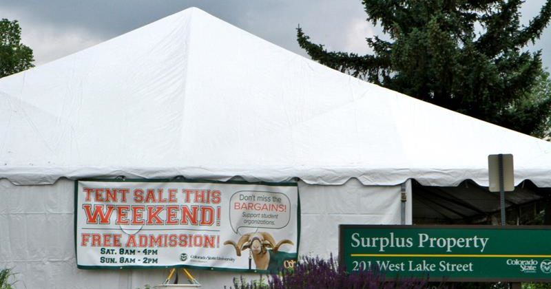 CSU Surplus Property and Housing and Dining Services are hosting the 5th Annual Tent Sale Saturday and Sunday June 18-19 at the Surplus Property ... & Surplus Property Tent Sale June 18-19 | SOURCE | Colorado State ...
