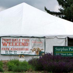 Surplus Property Tent Sale June 18-19