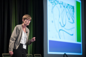 Jessica Davis from Thin Air Nitrogen Solutions, LLC, presents at the Business Pitch Slam at Colorado State University's 2015 Agriculture & Innovation Summit. March 19, 2015