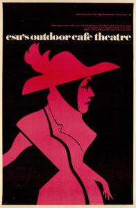 John Sorbie, CSU's Outdoor Cafe Theater, 1978. Offset lithograph. © John Sorbie. Gift of David Clune.