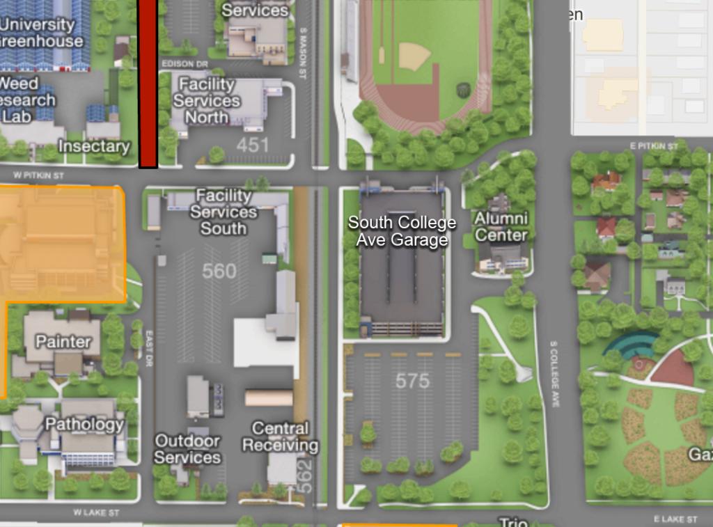 parking garage map location