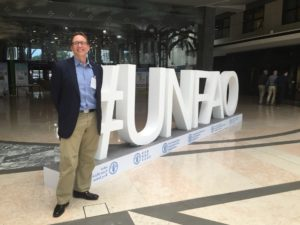 Vice President for Research Alan Rudolph at the United Nations Food and Agriculture Organization office in Rome.