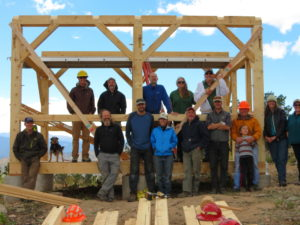CSFS and carpentry students build new shelter