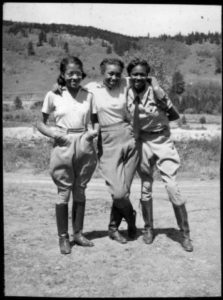 A group of girls at Camp Nizhoni, an African American girls camp founded in Colorado 1924.