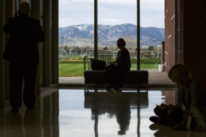 Lory Student Center view of mountains
