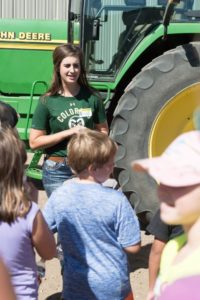 Colorado State University students demonstrate where food comes from to area elementary school at Ag Adventure at the Agricultural Research, Development and Education Center, September 28, 2016.