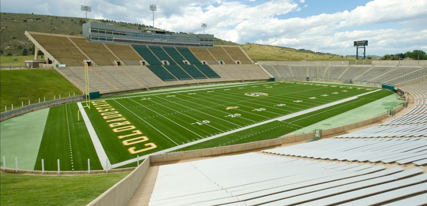 Full view of field at Hughes stadium