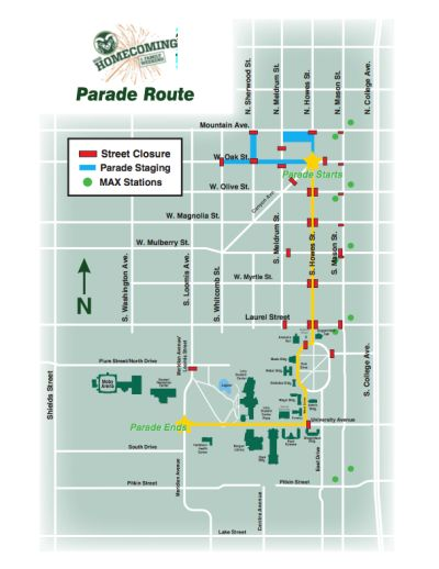 Traffic Map Colorado.Homecoming Parade Parking Traffic Can Be A Challenge Source