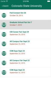 Fairs App screenshot
