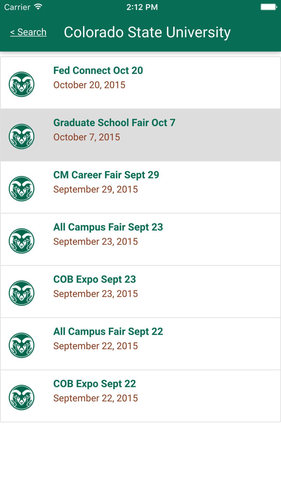 College Of Natural Sciences Career Fair