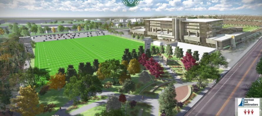 Construction to start on practice fields, gardens near stadium site