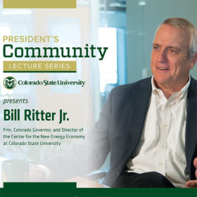 At President's Community Lecture, Bill Ritter will invite us to 'power forward'
