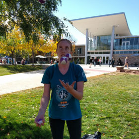 Juggling is creative outlet for engineering freshman Sarah Earl