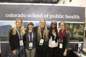 From left are Alexandra Peterson, Kendall Kritzik, Katie Murray, Katelin Jackson and Natalie Murphy, all of whom are MPH students in the ColoradoSPH at CSU.