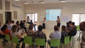 Castro-Prieto and Brian Dunbar facilitate workshop.