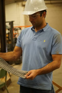 Student and carbon fiber polymer