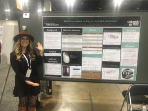 Foss presented her poster at the APHA conference.