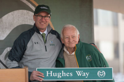 Ram fans gather to celebrate ranaming South Drive as Harry Hughes Way, November 19, 2016