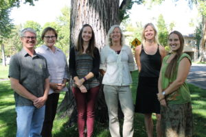 From left to right, Aaron Eakman, Catherine Schelly, Shannon Lavey, Margit Hentschel, Kimberly Henry and Natalie Rolle.