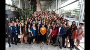 All of the WHO interns from around the world, with WHO Director-General Margaret Chan, center.
