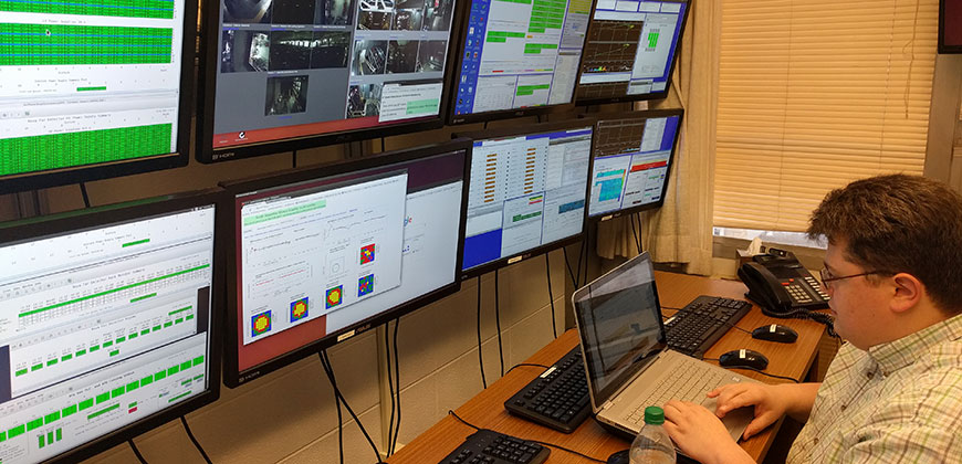 Paul rojas and control room