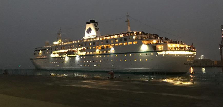 Semester at Sea ship at night