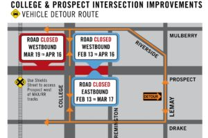prospect college intersection info