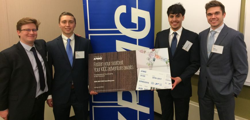 Accounting students take a bite out of the Big Apple at KPMG