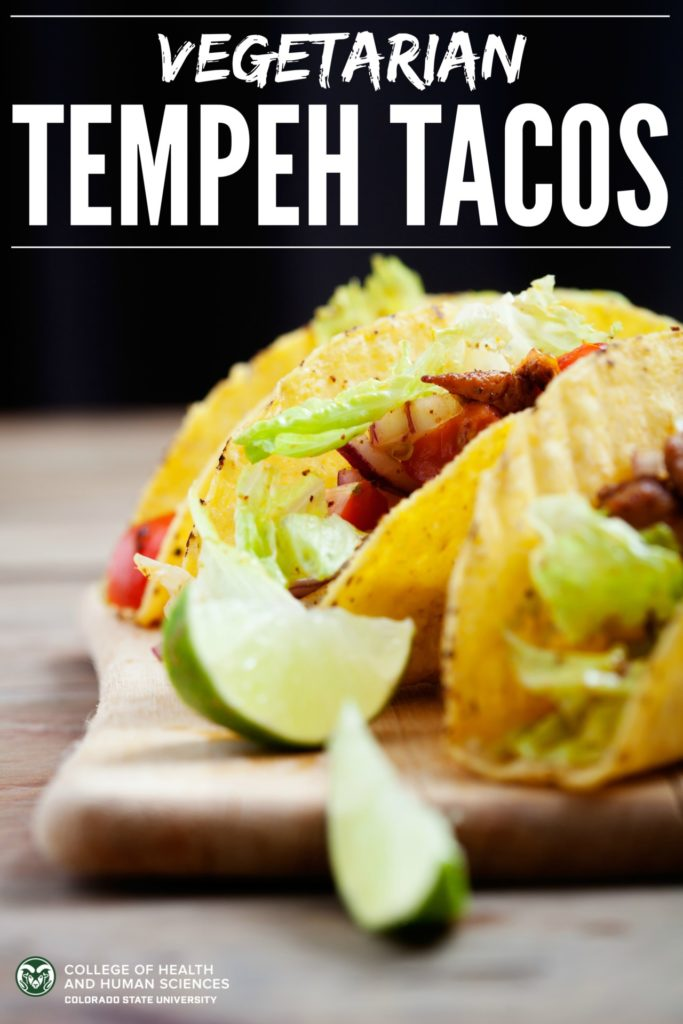 Tacos tempeh style. Tempeh is a great way to make tacos vegetarian or vegan.