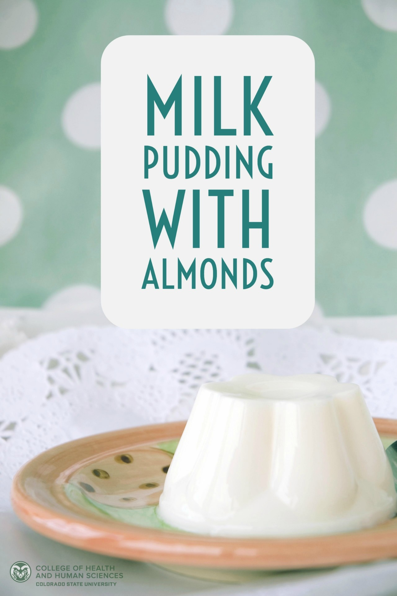 milk pudding with almonds