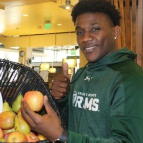Whole fruit in dining centers adds to sustainability success
