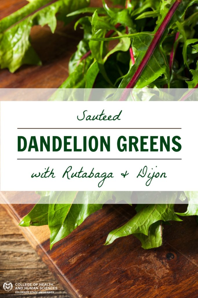 Raw Organic Red Dandelion Greens Ready to Chop