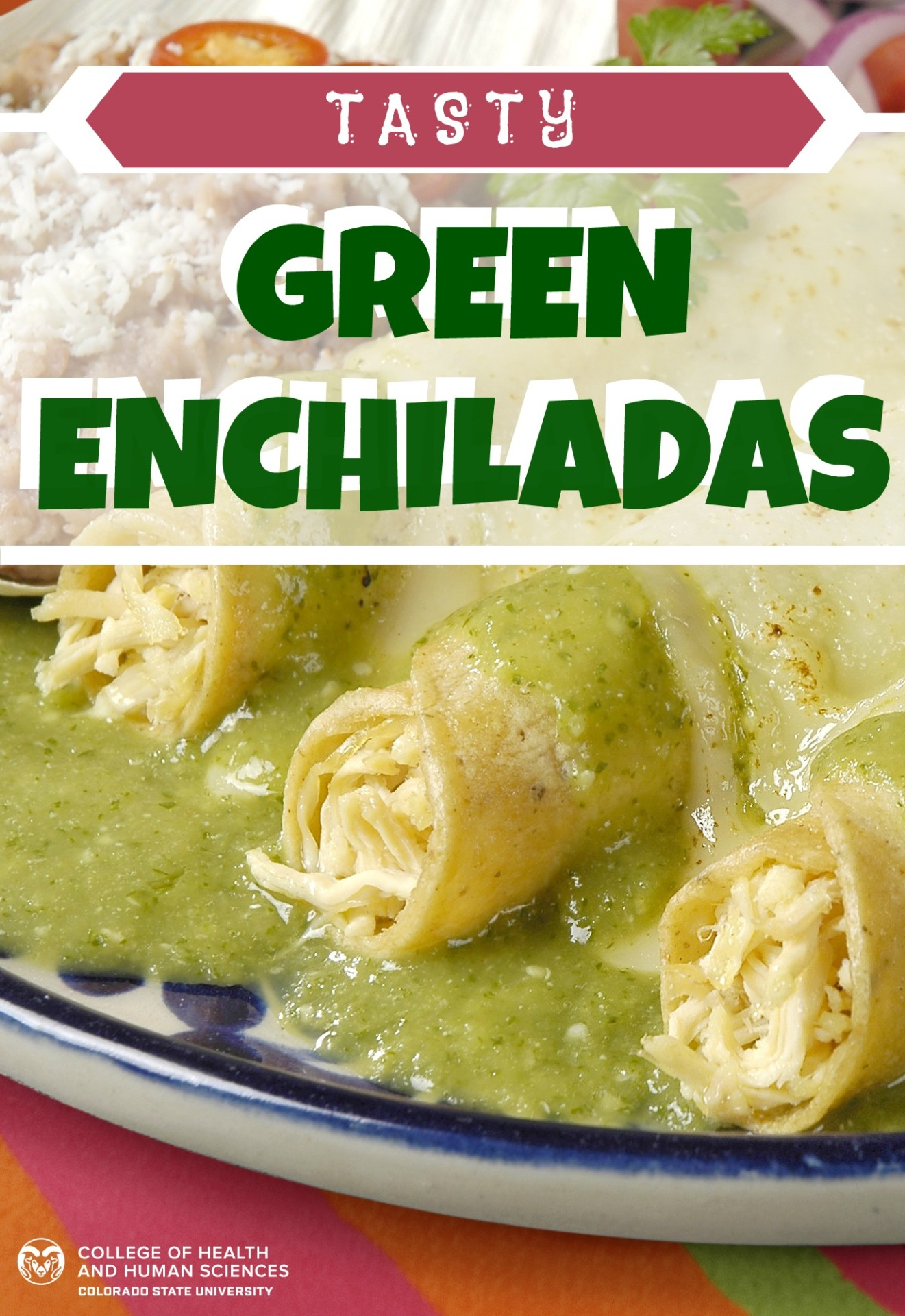 Try these tasty green chicken enchiladas. They're healthy too!