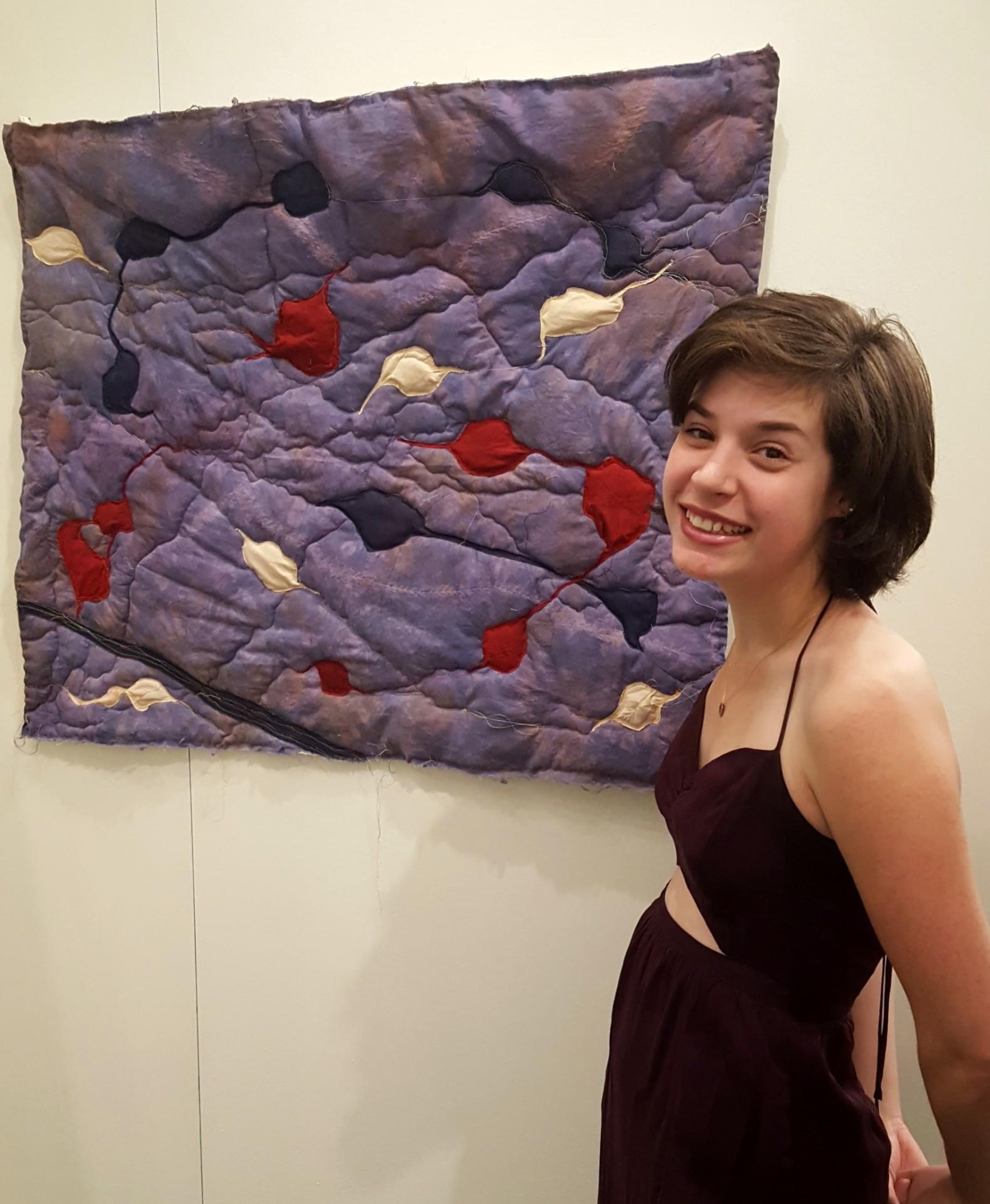 Apparel design student Nogah Seidemann with her art