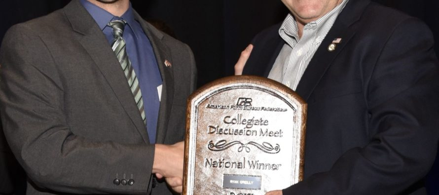 Ag student wins national discussion contest